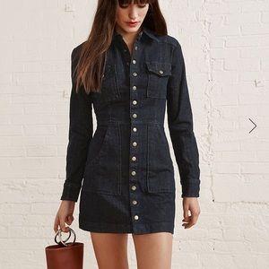 Reformation Hartley Denim Mini Dress - Size 2